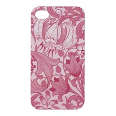 Vintage Style Floral Flower Pink Apple Iphone 4/4s Hardshell Case by Alisyart