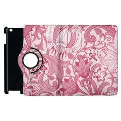 Vintage Style Floral Flower Pink Apple Ipad 3/4 Flip 360 Case