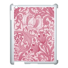 Vintage Style Floral Flower Pink Apple Ipad 3/4 Case (white) by Alisyart