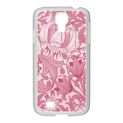 Vintage Style Floral Flower Pink Samsung Galaxy S4 I9500/ I9505 Case (white)