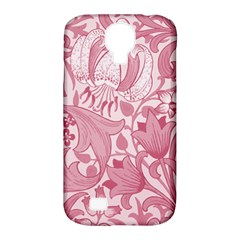 Vintage Style Floral Flower Pink Samsung Galaxy S4 Classic Hardshell Case (pc+silicone)