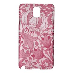 Vintage Style Floral Flower Pink Samsung Galaxy Note 3 N9005 Hardshell Case by Alisyart