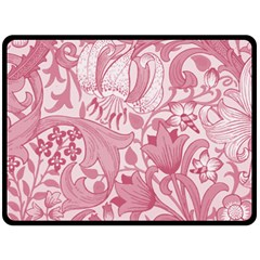 Vintage Style Floral Flower Pink Double Sided Fleece Blanket (large)  by Alisyart