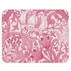 Vintage Style Floral Flower Pink Double Sided Flano Blanket (medium)  by Alisyart