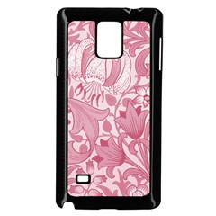 Vintage Style Floral Flower Pink Samsung Galaxy Note 4 Case (black) by Alisyart