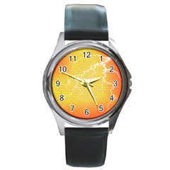 Exotic Backgrounds Round Metal Watch by Simbadda