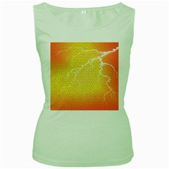 Exotic Backgrounds Women s Green Tank Top by Simbadda