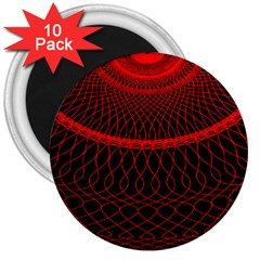 Red Spiral Featured 3  Magnets (10 Pack)  by Alisyart