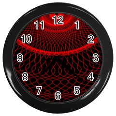 Red Spiral Featured Wall Clocks (black) by Alisyart