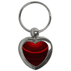 Red Spiral Featured Key Chains (heart)  by Alisyart