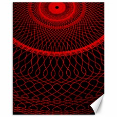 Red Spiral Featured Canvas 11  X 14   by Alisyart