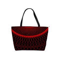 Red Spiral Featured Shoulder Handbags by Alisyart