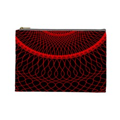 Red Spiral Featured Cosmetic Bag (large)  by Alisyart