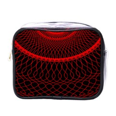 Red Spiral Featured Mini Toiletries Bags by Alisyart