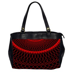 Red Spiral Featured Office Handbags (2 Sides)  by Alisyart