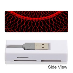 Red Spiral Featured Memory Card Reader (stick)  by Alisyart