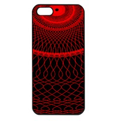 Red Spiral Featured Apple Iphone 5 Seamless Case (black)