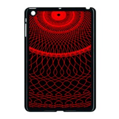 Red Spiral Featured Apple Ipad Mini Case (black) by Alisyart