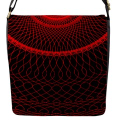 Red Spiral Featured Flap Messenger Bag (s) by Alisyart