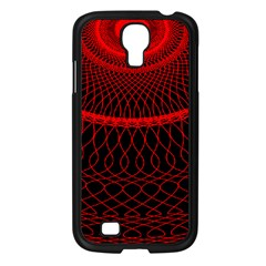 Red Spiral Featured Samsung Galaxy S4 I9500/ I9505 Case (black) by Alisyart