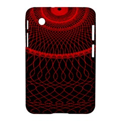 Red Spiral Featured Samsung Galaxy Tab 2 (7 ) P3100 Hardshell Case  by Alisyart