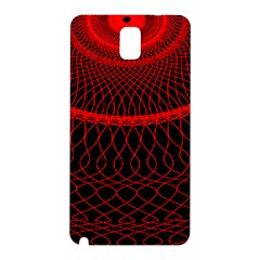 Red Spiral Featured Samsung Galaxy Note 3 N9005 Hardshell Back Case by Alisyart