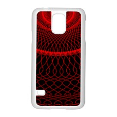 Red Spiral Featured Samsung Galaxy S5 Case (white)