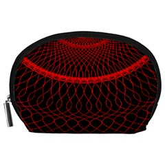 Red Spiral Featured Accessory Pouches (large)  by Alisyart