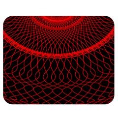 Red Spiral Featured Double Sided Flano Blanket (medium)  by Alisyart