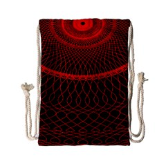 Red Spiral Featured Drawstring Bag (small) by Alisyart