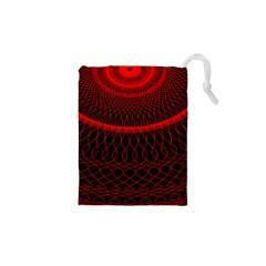 Red Spiral Featured Drawstring Pouches (xs)