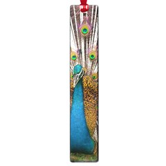 Indian Peacock Plumage Large Book Marks by Simbadda