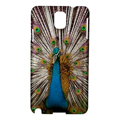 Indian Peacock Plumage Samsung Galaxy Note 3 N9005 Hardshell Case by Simbadda