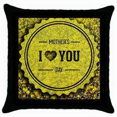 Happy Mother Day Throw Pillow Case (black) by Simbadda
