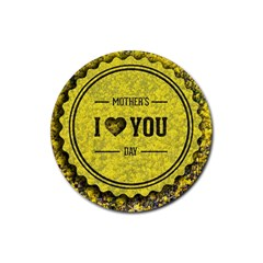 Happy Mother Day Rubber Round Coaster (4 Pack)  by Simbadda