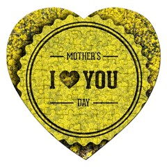 Happy Mother Day Jigsaw Puzzle (heart) by Simbadda