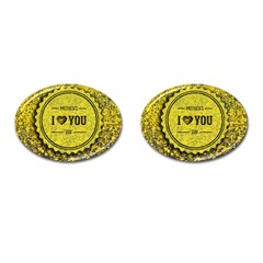 Happy Mother Day Cufflinks (oval) by Simbadda