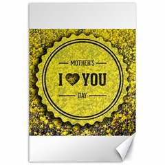 Happy Mother Day Canvas 24  X 36  by Simbadda