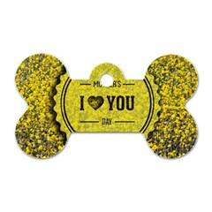 Happy Mother Day Dog Tag Bone (one Side) by Simbadda