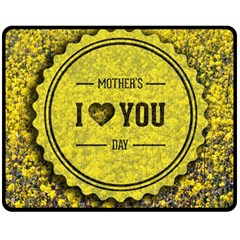 Happy Mother Day Fleece Blanket (medium)  by Simbadda