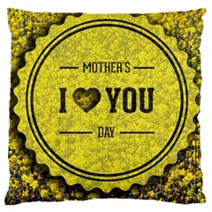 Happy Mother Day Large Cushion Case (one Side) by Simbadda