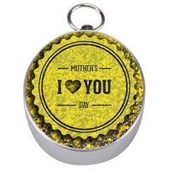 Happy Mother Day Silver Compasses