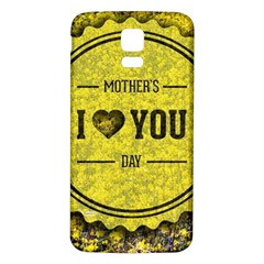 Happy Mother Day Samsung Galaxy S5 Back Case (white) by Simbadda