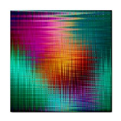 Colourful Weave Background Tile Coasters by Simbadda