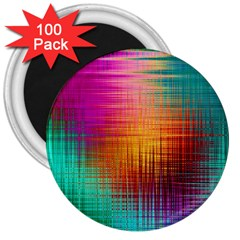 Colourful Weave Background 3  Magnets (100 Pack) by Simbadda