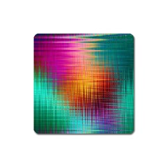 Colourful Weave Background Square Magnet by Simbadda