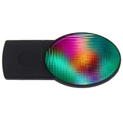 Colourful Weave Background Usb Flash Drive Oval (2 Gb) by Simbadda