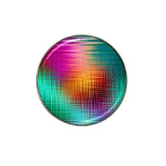 Colourful Weave Background Hat Clip Ball Marker (4 Pack) by Simbadda