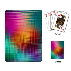 Colourful Weave Background Playing Card by Simbadda