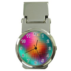 Colourful Weave Background Money Clip Watches by Simbadda
